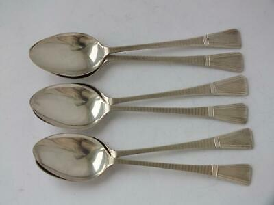 Set of 6 Art Deco Solid Sterling Silver Coffee Spoons 1938/ L 10.2 cm/ 48 g