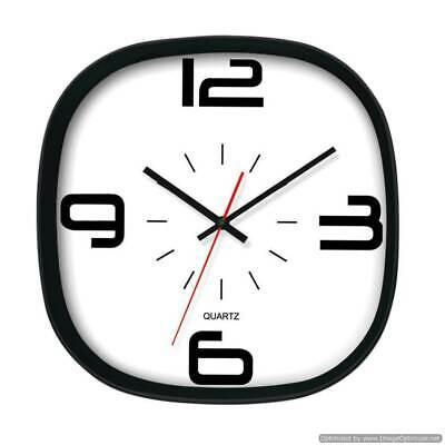 Arco Modern Black and White Wall Clock, Home & Kitchen, Bedroom