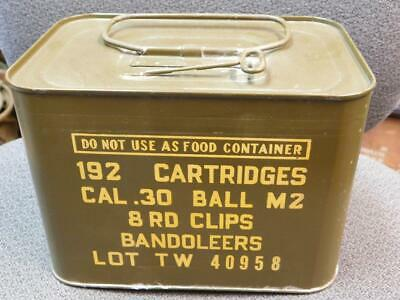 M1 Garand rifle ammo can..empty..excellent graphics