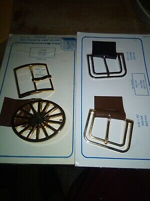 Vintage Mid Century Mod Retro Salesman Sample Belt Buckles