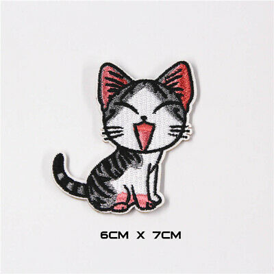 Embroidered Animal Cat Repair Sew Iron On Patch Fabric Dress Clothes Applique
