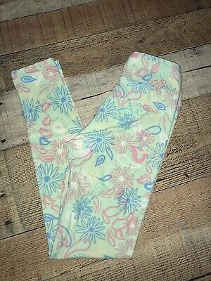Nwt Girls Lularoe Floral Leggings Size Tween