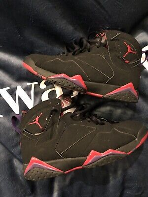 727accd7272 NIKE AIR JORDAN 7 Retro Raptor Black Red Shoes 304775 018 Size 12 ...