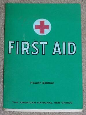 American Red Cross First Aid Textbook, Fourth Edition, 35Th Printing, 1970 Pb