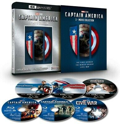 New Captain America 3 Movie Collection 4K ULTRA HD+Blu-ray Limited Edition Japan