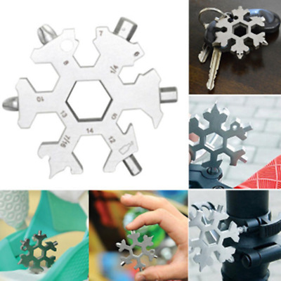 18-In-1 Snowflake Tool Card Multi-Tool Card Combination Compact Portable Outdoor