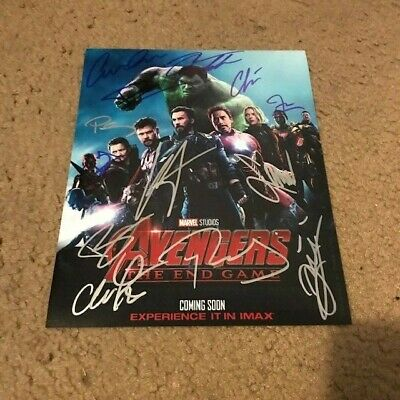 Avengers The End Game Signed Cast 8X10 Photo Rare Evans Downey Hemsworth By 13