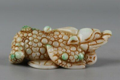 Chinese Exquisite Hand-carved Three-legged toad Carving jadeite jade statue