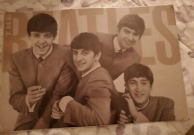 "COLLECTIBLE Beatles Heavy Cardboard Poster (1963 Picture) 36""x 24"" (SEALED) 1991"