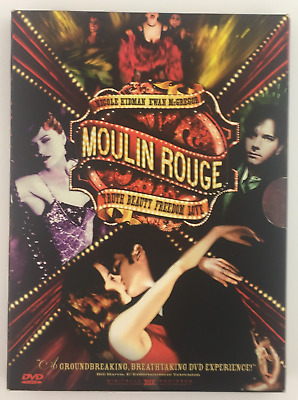Moulin Rouge (DVD, 2001, 2-Disc Set, Two Discs English/Spanish Versions) DIGIPAK