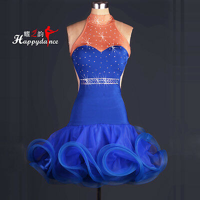 Halter Dress Clothing Latin Dance Competition Dress