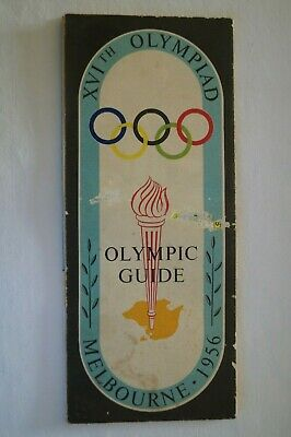 Olympic Games Collectable 1956 Melbourne Vintage Games Guide and Map Great Info