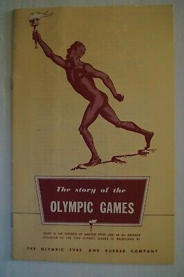 Olympic Games Collectable 1956 Melbourne Vintage Booklet Story of The Olympics