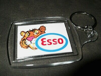 """ESSO"" TIGER  KEY RING Promo Oil Garage Service GAS Station Petrol Retro"