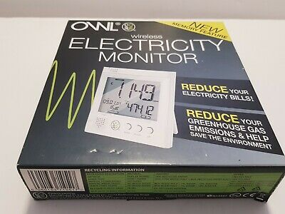Electricity Monitor usage set Owl brand wireless for home / business new in box