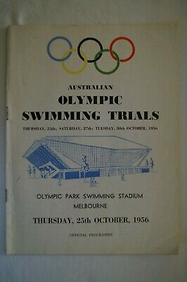 Olympic Games Collectable 1956 Melbourne Vintage Programme Swimming Trials