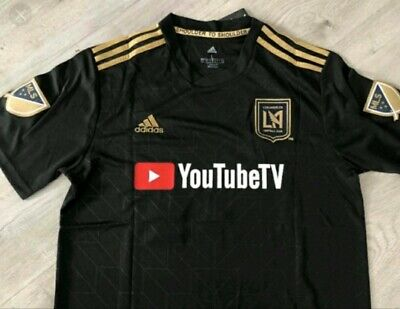purchase cheap 1dc8a 66449 ADIDAS LAFC 2018 Home SS Authentic Jersey - Black/Gold Men's ...