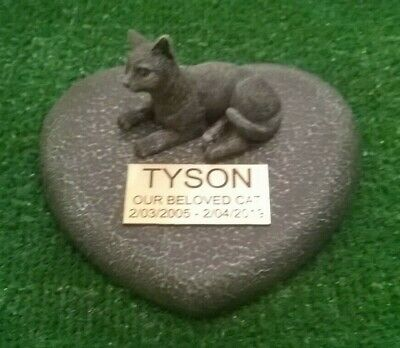 cat Large Pet Memorial/headstone/stone/grave marker/memorial with plaque nw1