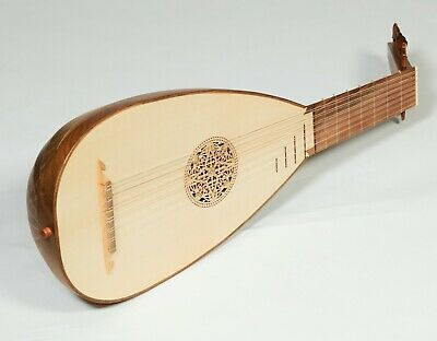 New Heartland Travel Lutes, 7 Course Right Handed Walnut, Travel Lute