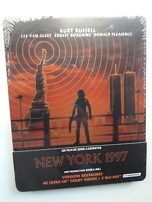 1997 Escape From New York 4K Blu-Ray Steelbook Limited Edition, France