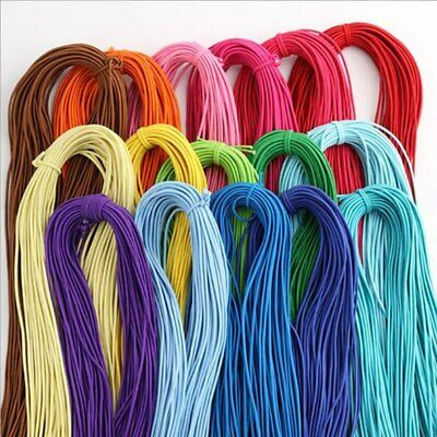 5 Yards 2mm Colorful Round Hair Elastic Rope High-Quantity Elastic Rubber Band