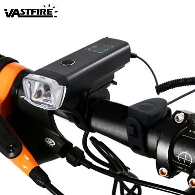 XPG-R5 LED Bicycle Front Light 1000LM Bright Cycling Headlamp USB Rechargeable
