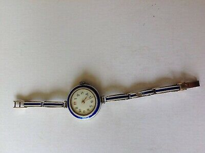 Art Deco Modele disposè Swiss Silver Watch