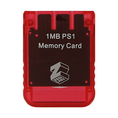 1MB Memory card for PS1 & PS2 compatible* - Red | ZedLabz