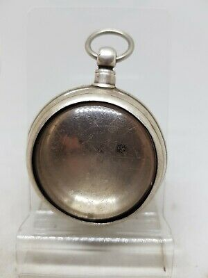 Antique solid silver pair cased Chester pocket watch case 1892 ref585