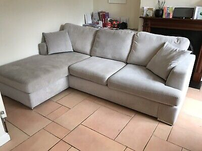 b4f0884ba82 DFS FRENCH CONNECTION Quartz Right Hand Facing Chaise Sofa in Stone ...