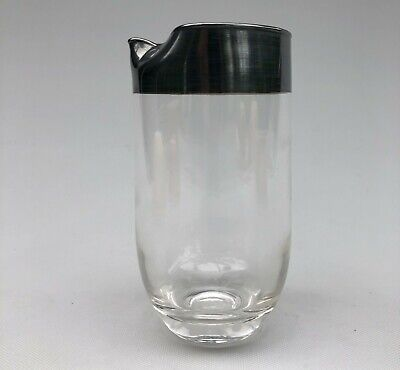 Vintage Dorothy Thorpe Silver Band Juice or Cocktail Pitcher Mid Century Modern