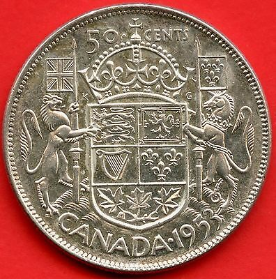 "1953 ""Large Date/No Shoulder Fold"" Canada 50 Cents (11.66 Grams .800 Silver)"