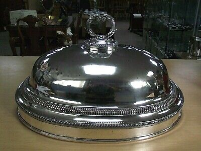 Large Antique Silver Plated Food Cloche