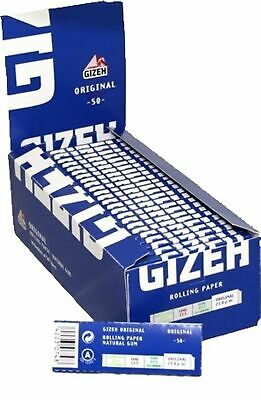 1 Box Cartine Gizeh Original Corte 2500 Cartine 50 Libretti Pz.