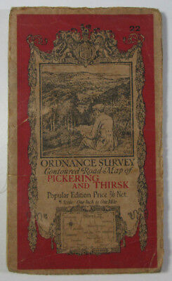 Vintage 1924 OS Ordnance Survey One-Inch Popular Edition Map 22 Pickering Thirsk
