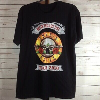 Guns N Roses Mens Shirt Black Not In This Life Time 2016 Tour Size Large