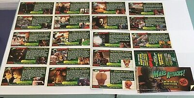 Lot: TWO Packs 1996 Vintage MARS ATTACKS Widevision Trading Cards TOPPS - Opened