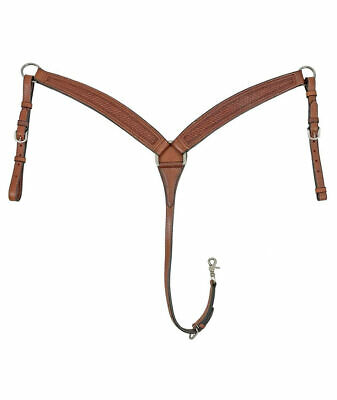 Western breastplate in leather with small basketwork Pools