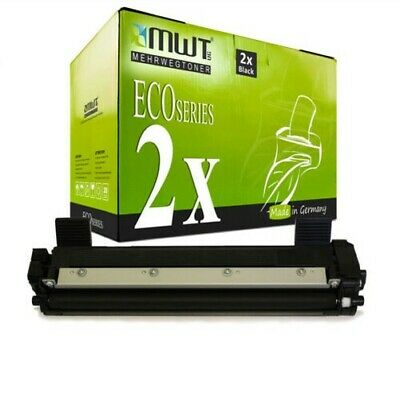 2x MWT Eco Cartuccia Compatibile per Brother MFC-1911-NW DCP-1610-W DCP-1510