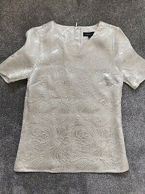 Ladies M&S (Marks And Spencer) Silver Metallic Effect Top. Size 6. Never Worn