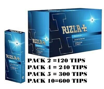 Original Rizla Polar Blast Crushball Extra Slim Filter Tips 5.7Mm Pack 120 | 240