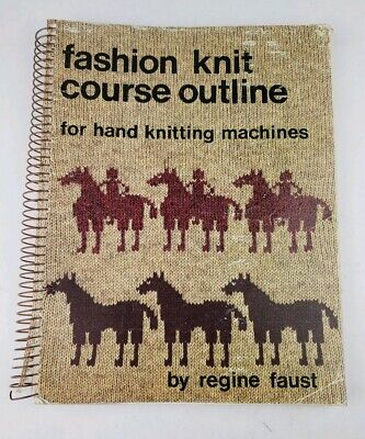 Rare Fashion Knit Course Outline Hand Knitting Machines Regine Faust VTG 1980
