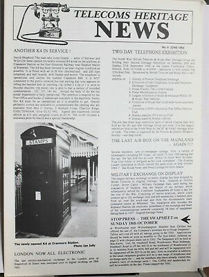 Telecom Heritage News - Issue No 4 - June 1992 - 10 pages