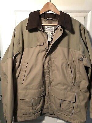 485f361a12a25 Vtg LL Bean Men's Tan Gore -Tex Bird Hunting Jacket Size Regular Large