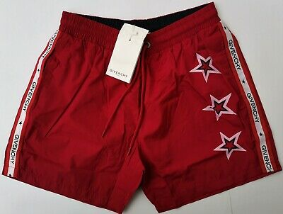 New GIVENCHY PARIS Trunks Shorts Size L Swimwear Swim Beach Board France Stars