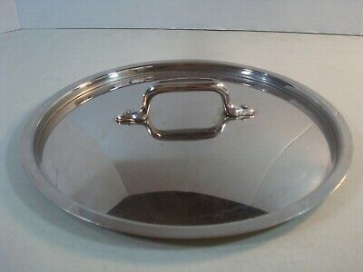 "ALL-CLAD Stainless 10 1/4"" Edge to Edge(9 5/8"" Inside Lip) LID ONLY VGUC* #G2"