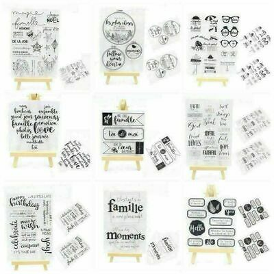 Transparent Silicone Sheet Cling Scrapbooking Cards Clear Rubber Stamp DIY E6A7