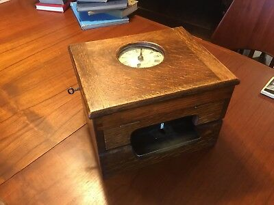 Gledhill-Brook Time Recorder Table Top 1912-1941 Huddersfield, ENG. Works Great