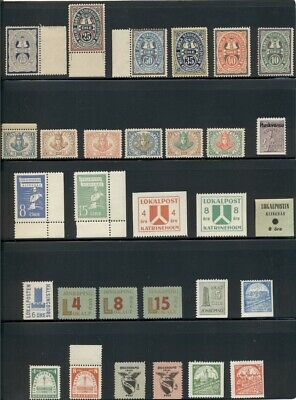 SWEDEN Early LOCALS collection of 55 different, NH, scarce