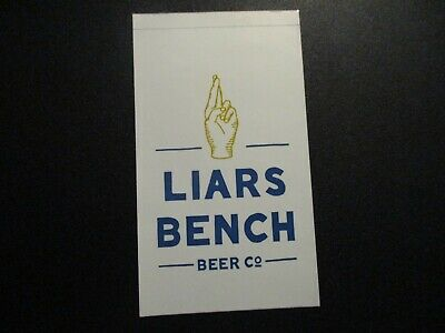 LIARS BENCH BEER CO Portsmouth NH rect STICKER decal craft beer brewery brewing